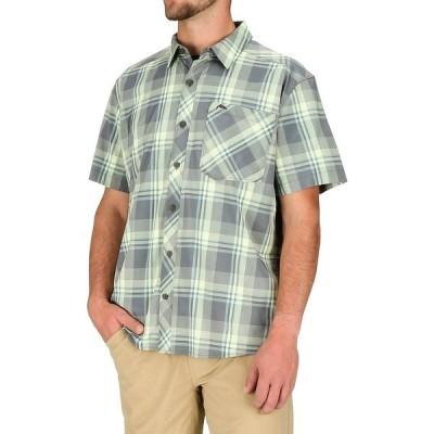 シムズ シャツ メンズ トップス Outpost Short-Sleeve Shirt - Men's Storm Plaid