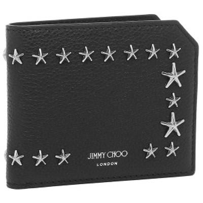 ジミーチュウ 財布 二つ折り財布 アルバニー ブラック メンズ JIMMY CHOO ALBANYUUF 14503727【返品OK】