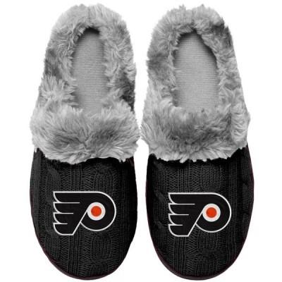 フォーエバーコレクティブルズ レディース サンダル シューズ Philadelphia Flyers Women's Cable Knit Slide Slippers