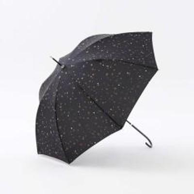 アフタヌーンティーリビングスターグリッター晴雨兼用長傘 雨傘/ブラック/―