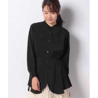 (Acuta/アクータ)ポリモダールブロードブザム付きシャツ/レディース BLACK