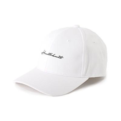 【ラグスタイル】 Healthknit(ヘルスニット)ツイル刺繍キャップ/キャップ メンズ 帽子 CAP ツイル刺繍 BITTER ビター系 メンズ ホワイト F LUXSTYLE