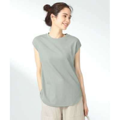 any FAM/エニィファム 【UVケア】プレミアムベーシックノースリーブ Tシャツ スモーキーグリーン系 3