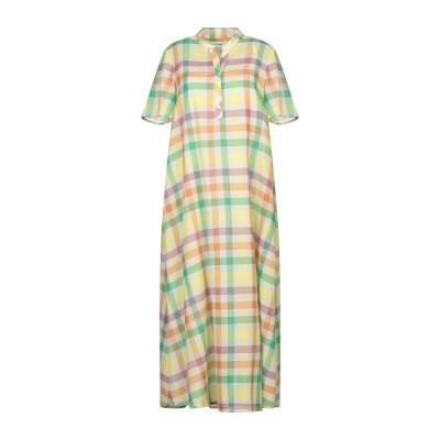 OTTOD'AME 7分丈ワンピース・ドレス グリーン 42 コットン 100% 7分丈ワンピース・ドレス
