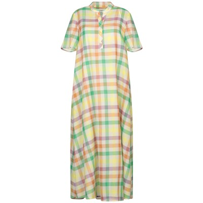 OTTOD'AME 7分丈ワンピース・ドレス グリーン 40 コットン 100% 7分丈ワンピース・ドレス