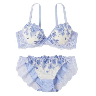 リュクシーフラワーレース ブラジャー・ショーツセット(D70/M) (ブラジャー&ショーツセット)Bras & Panties