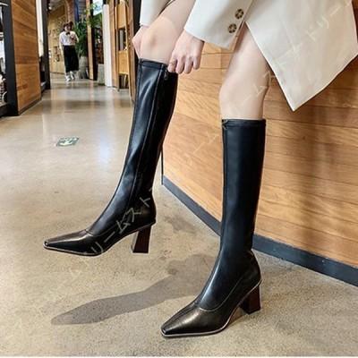 ロングブーツ レディース ウエスタンブーツ 長靴 疲れない 歩きやすい ロングブーツ ふくらはぎ ゆったり ブーツ ジョッキーブーツ 大きい 筒周り ゆったり