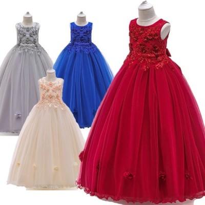 子どもドレス 花童 チュールスカートドレス 子供ドレス フォーマル 子供ドレス 発表会 子供ドレス ワンピース120-170CM 結婚式 フォーマル 安い