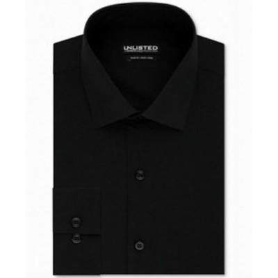 Kenneth Cole ケネスコール ファッション ドレス Kenneth Cole Mens Black Size 15 1/2 Slim Fit Button Up Dress Shirt