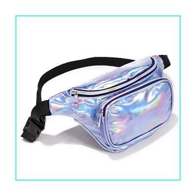 【新品】Holographic Fanny Pack - BuyAgain Waterproof Iridescent Neon Waist Pack Fashion Bag For Women Men Festival Rave With Adjustable Waist Belt