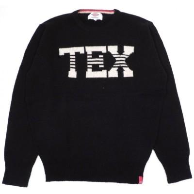ディッキーズ セーター クルーネック ニット ブラック DICKIES TEX SWEATER CREW NECK BLACK