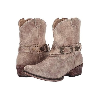 Roper Nelly レディース ブーツ Vintage Beige Faux Leather