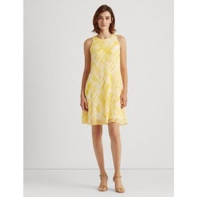 ラルフローレン レディース ワンピース トップス Tie-Dye Georgette Shift Dress Lemon