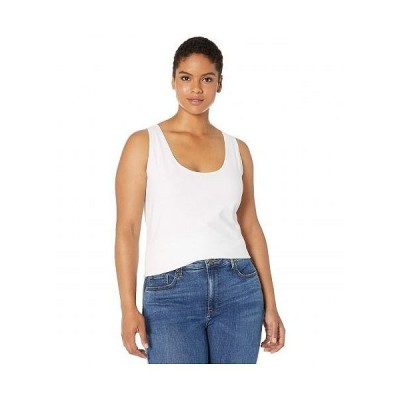 Lysse リセ レディース 女性用 ファッション トップス シャツ Plus Size Cotton Tank Top - White