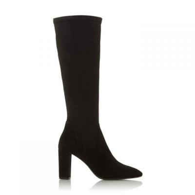 デューン Dune レディース ブーツ シューズ・靴 Siren High Block Heel Pointed Toe Boots Black