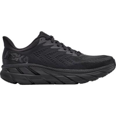 ホカ オネオネ Hoka One One メンズ ランニング・ウォーキング シューズ・靴 HOKA ONE ONE Clifton 7 Running Shoes Black/Black