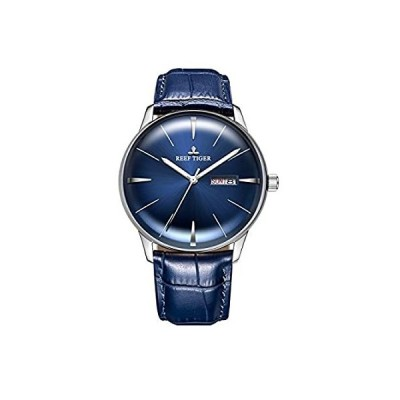特別価格Reef Tiger 贅沢な 自動機械腕時計 ブルーダイヤル 日の日付表示 メンズ腕時計 RGA8238好評販売中