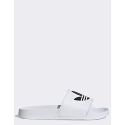 アディダス メンズ サンダル シューズ adidas Originals Adilette Lite sliders in white White