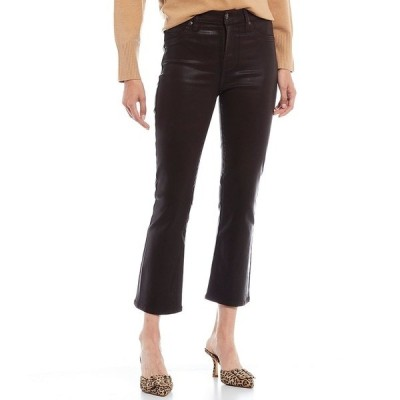 7フォーオールマンカインド レディース デニムパンツ ボトムス 7 For All Mankind High Waist Slim Kick Crop Coated Jeans Mocha Coated