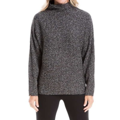マックスタジオ レディース ニット&セーター アウター Marled Mock Neck Sweater BLACK