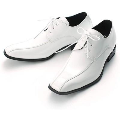 [CLOUD 9 クラウド・ナイン] シークレットシューズ ビジネス 背が高くなる靴 メンズ 7cm 結婚式 白 ホワイト