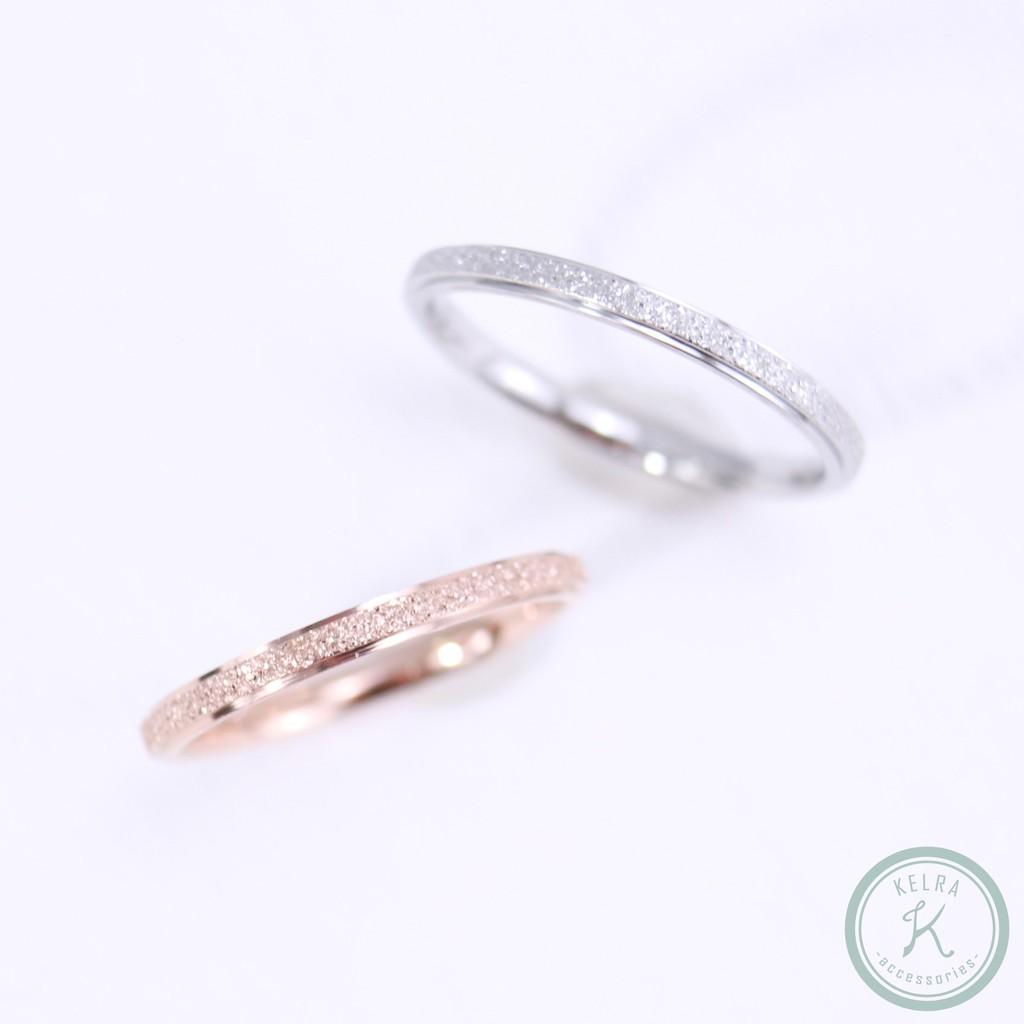 【KELRA】鈦鋼磨砂戒指
