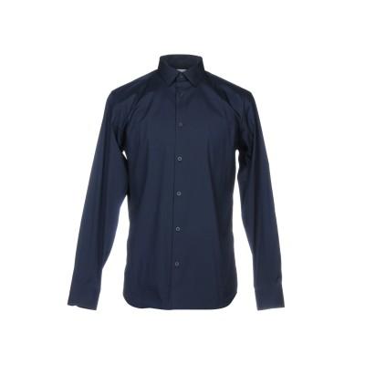 SELECTED HOMME シャツ ダークブルー 38 コットン 77% / ナイロン 20% / ポリウレタン 3% シャツ
