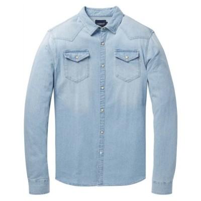 SCOTCH & SODA スコッチアンドソーダ L/S SHIRTS フェイデッドウエスタン長袖シャツ スリムフィット Faded Western Shirt Slim Fit [148070] [282-71416]