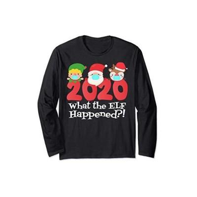 面白いクリスマスエルフが2020年のクリスマスパジャマに何が起こったのか 長袖Tシャツ