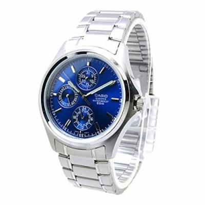【当店1年保証】カシオCasio Men's Core MTP1246D-2AV Silver Stainless-Steel Quartz Watch with Blue D
