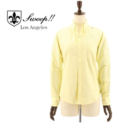 スウィープ!! ロサンゼルス SWEEP!! LosAngeles  レディース コットン オックスフォード ボタンダウンシャツ OXFORD B.D-W YELLOW(イエロー)