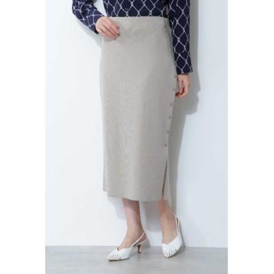 BOSCH (ボッシュ) レディース ◆[ウォッシャブル]ハイゲージニットセットアップスカート ベージュ(040) 38