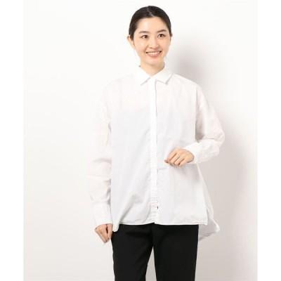 シャツ ブラウス 日本製ゆったりシルエットコットンブラウスナノファイン加工(GW)