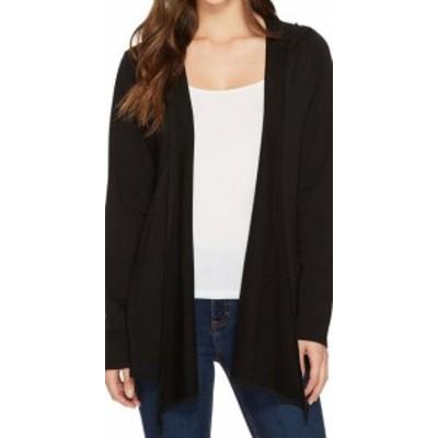 Mod-o-doc モドオードック ファッション トップス Mod-O-Doc NEW Black Open Front Women Medium M Hooded Cardigan Sweater