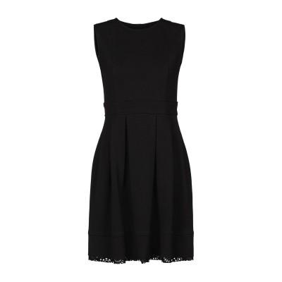 ELEONORA AMADEI ミニワンピース&ドレス ブラック 42 ポリエステル 94% / ポリウレタン 6% ミニワンピース&ドレス