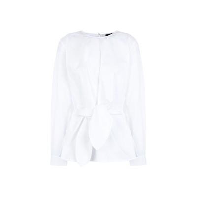DKNY ブラウス ホワイト M コットン 67% / ナイロン 28% / ポリウレタン 5% ブラウス