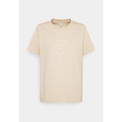 レディース ファッション Print T-shirt - beige