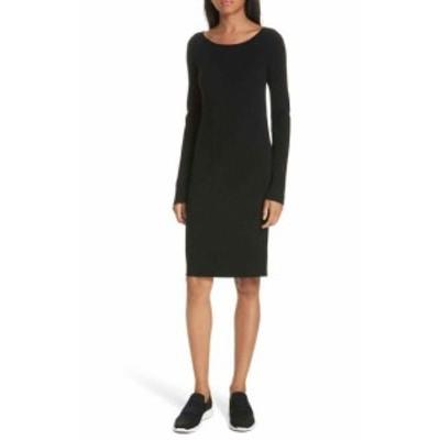 ファッション ドレス Vince. NEW Black Womens Size Small S Ribbed Knit Sweater Dress Wool