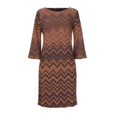 PAOLA PRATA ミニワンピース&ドレス ブラウン 44 レーヨン 92% / ポリエステル 4% / ナイロン 4% ミニワンピース&ドレス