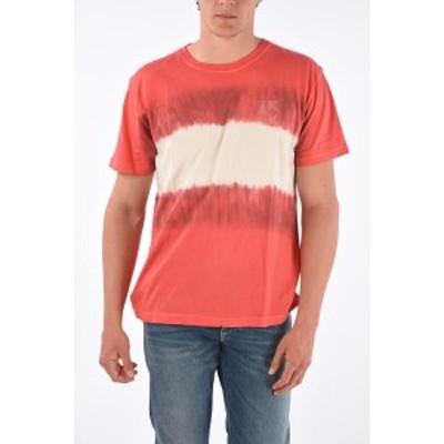 OFF WHITE/オフホワイト Red メンズ Tie Dye Effect Skinny Fit ARROW T-shirt dk