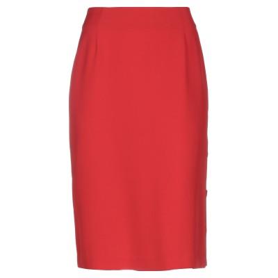 GAIA LIFE ひざ丈スカート レッド 46 ポリエステル 95% / ポリウレタン 5% ひざ丈スカート
