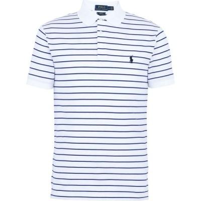 ラルフ ローレン POLO RALPH LAUREN メンズ ポロシャツ 半袖 トップス custom slim striped short sleeve polo shirt White