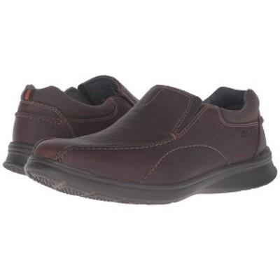 クラークス メンズ スリッポン・ローファー シューズ Cotrell Step Brown Oily Leather
