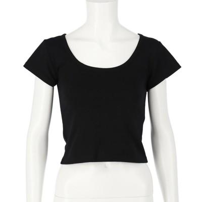 ANAP クロップドタイトTシャツ(ブラック)