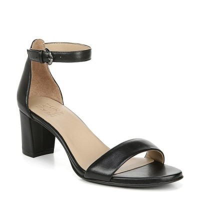 ナチュライザー レディース サンダル シューズ Vera Leather Ankle Strap Block Heel Dress Sandals Black Leather