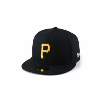ニューエラ レディース 帽子 アクセサリー Pittsburgh Pirates Wool Authentic Collection UV 59FIFTY Cap Black