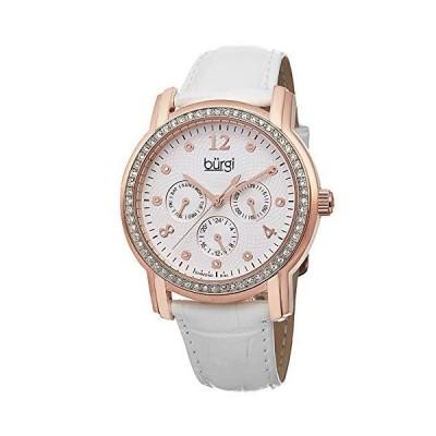 Burgiレディースbur083rgwアナログディスプレイ日本クォーツホワイト腕時計【並行輸入品】