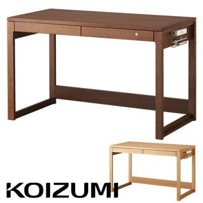 コイズミ KOIZUMI 学習机 学習デスク 勉強机 コンセント 引き出し付 子供 おしゃれ 木製 BEENO(ビーノ) シンプルデスク 幅120cm BDD-073NS/BDD-173WT/BDD-103MO