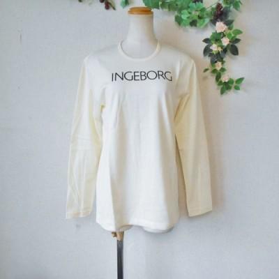 インゲボルグ INGEBORG ロゴ プリント 入り レディース 用 長袖 Tシャツ カットソー