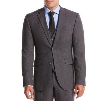 ペリーエリス メンズ ジャケット・ブルゾン アウター Slim-Fit Sharkskin Bi-Stretch Suit Separates Jacket